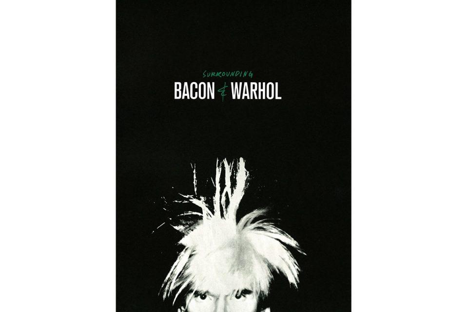 Bokomslag med porträtt av Andy Warhol i vitt mot svart bakgrund.