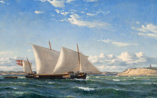 Kanonbåt på hav
