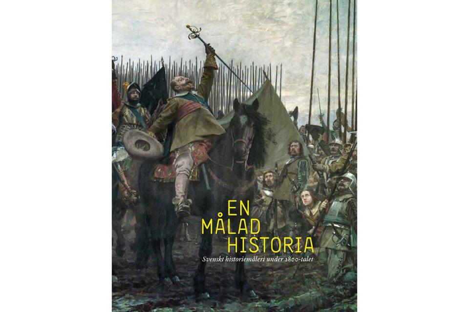 Bokslag med motiv av historisk målning av krigsscen.