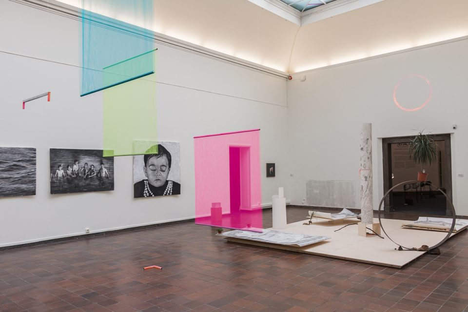 Interiör från utställningssal på Göteborgs konsthall