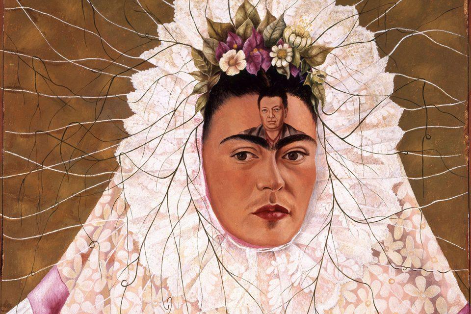 Självporträttmålning av Frida Kahlo.