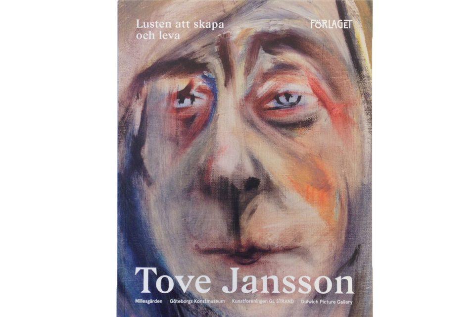 Omslag till utställningskatalog med självporträttsmålning av Tove Jansson på framsidan.