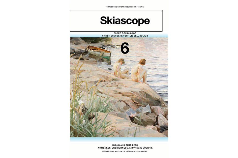 Bokomslag med målning av nakna kvinnor på klippor vid hav.