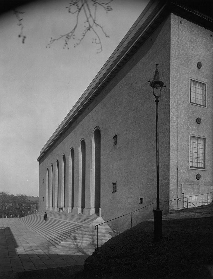 Svartvit foto från 1928 av fasaden till Göteborgs konstmuseum