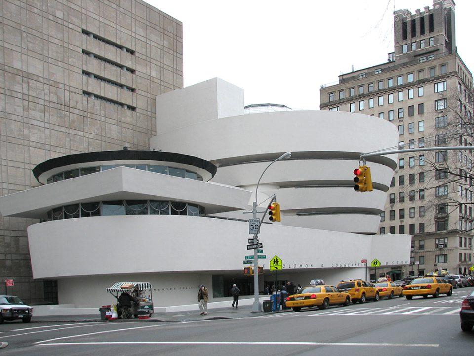 Foto av exteriören på Guggenheimmuseet i New York