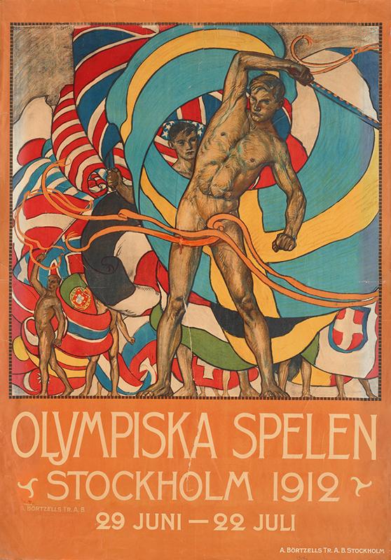 Reklamaffisch från Olympiska spelen i Stockholm 1912